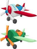 Vliegtuigen — Stockvector