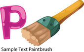 ALPHABET LETTER P-Paintbrush — Stock Vector