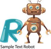 Abeceda písmeno r-robot — Stock vektor