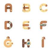 Alphabet A-I Robot — Vetorial Stock