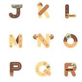 Alphabet J-R Robot — Vettoriale Stock