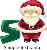 ALPHABET LETTER S-Santa — Vetorial Stock