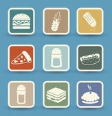 Fast food icons set — Stock Vector