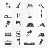 Carpentry icons — Stockvektor