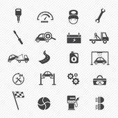 Car service maintenance icons — Stock Vector