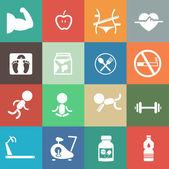 Fitness pictogrammen — Stockvector