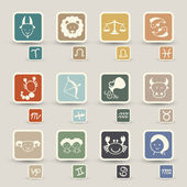 Zodiacal icons — Stock Vector