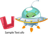 ALPHABET LETTER U-UFO — Vetorial Stock