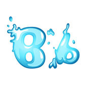 Water letter B — Stock Vector