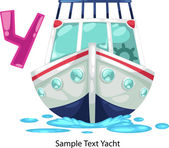 ALPHABET LETTER Y-Yacht — Vettoriale Stock