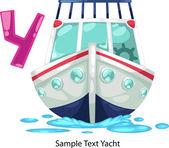 ALPHABET LETTER Y-Yacht — Vector de stock