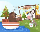 Party zoo — Stock vektor