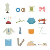 Sewing equipment icons — Stock Vector