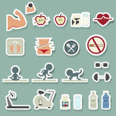 Fitness ikoner — Stockvektor