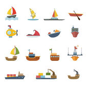 Boats and ships — Stock Vector