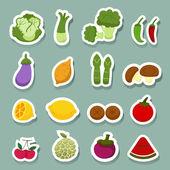 Frutas e legumes — Vetorial Stock