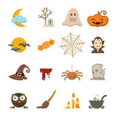 Halloween icons set — Stock Vector
