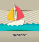 Paper beach icon — Stock Vector