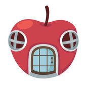 Apple house vector — Stock Vector