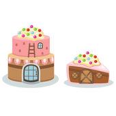 Cake house vector — Stock Vector