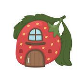 Strawberry house vector — Wektor stockowy