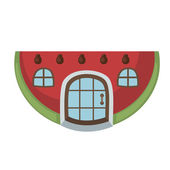 Watermelon house vector — Stock Vector