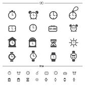 Clocks icons.vector eps10 — Stock Vector