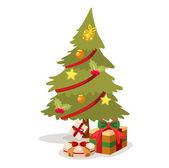 Christmas tree vector — Stock Vector