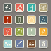 Science icons.vector eps10 — Vettoriale Stock