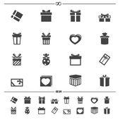 Gift box icons.vector eps10 — Stock Vector