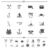 Fishing and equipment for fishing icons.vector eps10 — Stock Vector