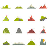 Mountain icons vector eps10 — Stock Vector