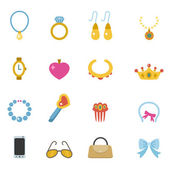 Accessory icons vector eps10 — Stock Vector
