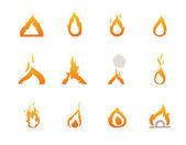 Fire icons vector eps10 — Stock vektor