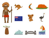 Australian symbol vector set — Stock Vector