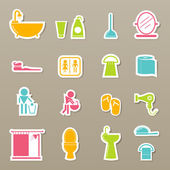 Bathroom icons set — Stock Vector