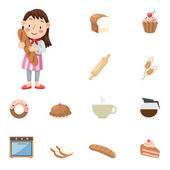 Baker  icons — Stock Vector