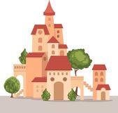 Castle vector — Stock Vector