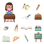 Student icons — Stock Vector