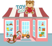 Toy shop vector — Stock Vector