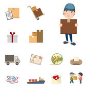 Shipping and Logistics icons set — Stock Vector