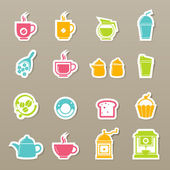 Coffee and tea Icons vector — Stock Vector