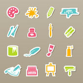 Art icons vector — Stock Vector
