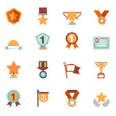 Trophy and awards icons vector — Stock Vector