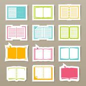 Book icons set vector — Stock Vector