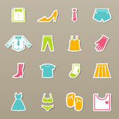 Clothing icons set vector — Stock Vector