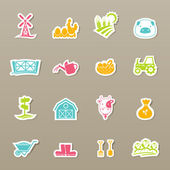 Farm Icons set vector — Stock Vector