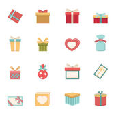 Gift box icons vector eps10 — Stock Vector