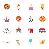 Circus Icons vector eps10 — Stock Vector
