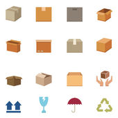 Packaging boxes icons vector eps10 — Stock Vector